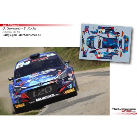 Quentin Giordano - Hyundai i20 R5 - Rally Lyon Charbonnieres 2018