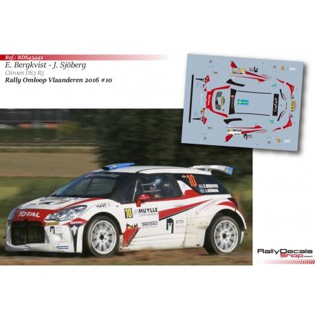 Emil Bergkvist - Citroen DS3 R5 - Rally Van Vlaanderen 2016