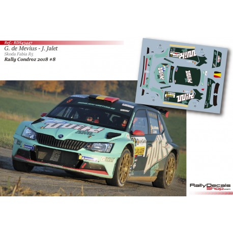 Ghislain de Mevius - Skoda Fabia R5 - Rally Condroz 2018