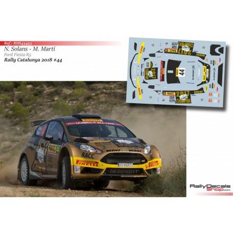 Nil Solans - Ford Fiesta R5 - Rally Catalunya 2018