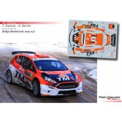 Katsuta Takamoto - Ford Fiesta R5 - Rally MonteCarlo 2019