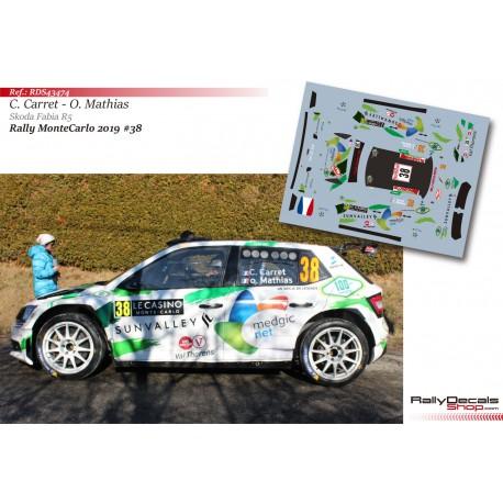 Claude Carret - Skoda Fabia R5 - Rally MonteCarlo 2019