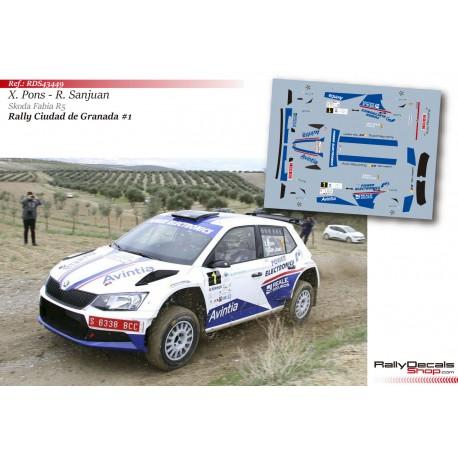Xevi Pons - Skoda Fabia R5 - Rally Granada 2018