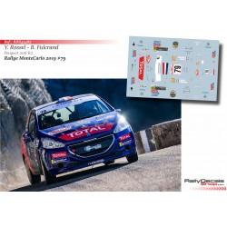 Yohan Rossel - Peugeot 208 R2 - Rally MonteCarlo 2019