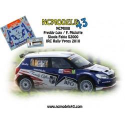 Freddy Loix - Skoda Fabia S2000 - Rally Ypres 2010