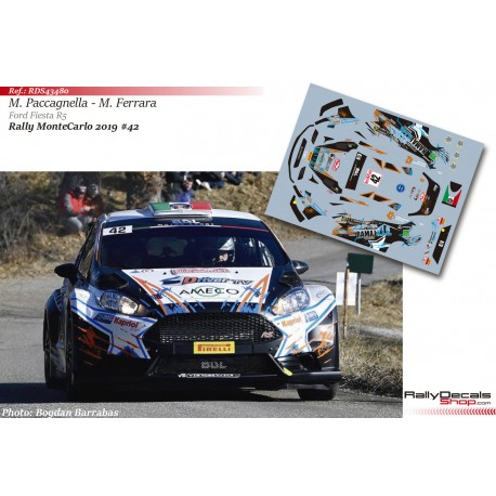 Marco Paccagnella - Ford Fiesta R5 - Rally MonteCarlo 2019