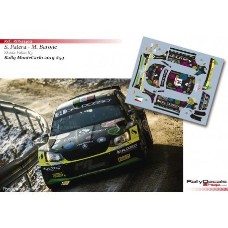 Silvano Patera - Skoda Fabia R5 - Rally MonteCarlo 2019