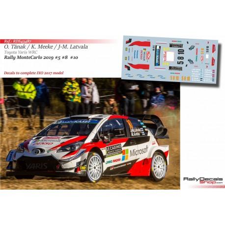 Tanak - Meeke - Latvala - Toyota Yaris WRC - Rally MonteCarlo 2019