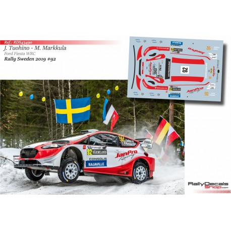 Janne Tuohino - Ford Fiesta WRC - Rally Sweden 2019