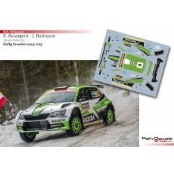 Kalle Rovanpera - Skoda Fabia R5 - Rally Sweden 2019