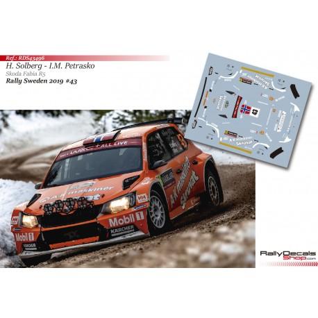 Henning Solberg - Skoda Fabia R5 - Rally Sweden 2019
