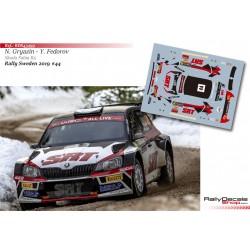 Nikolay Gryazin - Skoda Fabia R5 - Rally Sweden 2019