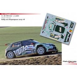 Ghislain de Mevius - Skoda Fabia R5 - Rally Haspengouw 2019