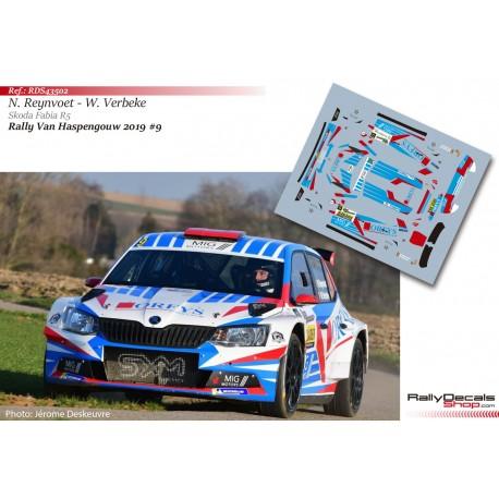 Niels Reynvoet - Skoda Fabia R5 - Rally Haspengouw 2019