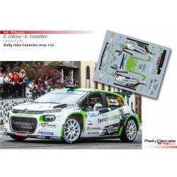 Emma Falcón - Citroen C3 R5 - Rally Islas Canarias 2019