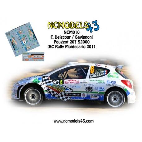 François Delecour - Peugeot 207 S2000 - Rally Montecarlo 2011