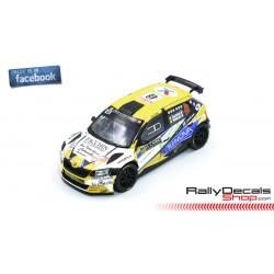 Skoda Fabia R5 - Davide Caffoni - Rally MonteCarlo 2019