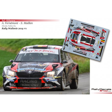 Adrian Fernémont - Skoda Fabia R5 - Rally Wallonie 2019