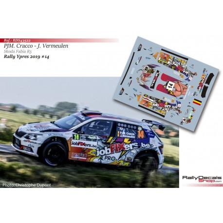 Pieter Jean Michiel Cracco - Skoda Fabia R5 - Rally Ypres 2019