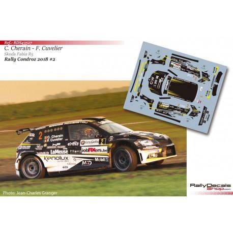 Cédric Cherain - Skoda Fabia R5 - Rally Condroz 2018