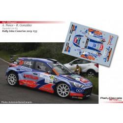 Toñi Ponce - Hyundai i20 R5 - Rally Islas Canarias 2019