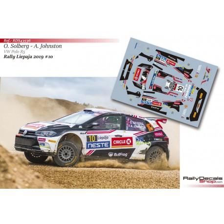Oliver Solberg - VW Polo R5 - Rally Liepaja 2019