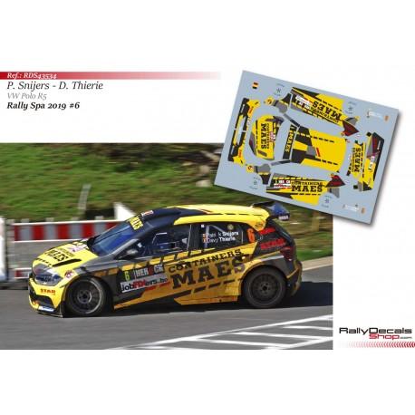 Patrick Snijers - VW Polo R5 - Rally Spa 2019