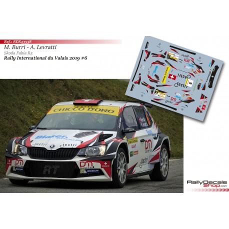 Michaël Burri - Skoda Fabia R5 - Rally Valais 2019