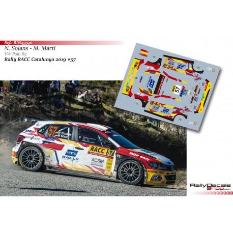 Nil Solans - VW Polo R5 - Rally Catalunya 2019