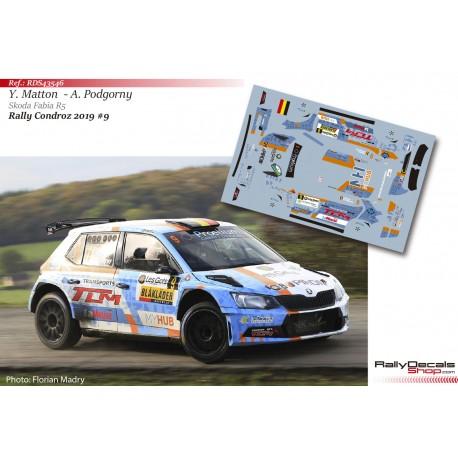 Yves Matton - Skoda Fabia R5 - Rally Condroz 2019
