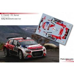 Eric Camilli - Citroen C3 R5 - Rally MonteCarlo 2020