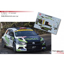 Olivier Burri - VW Polo R5 - Rally MonteCarlo 2020