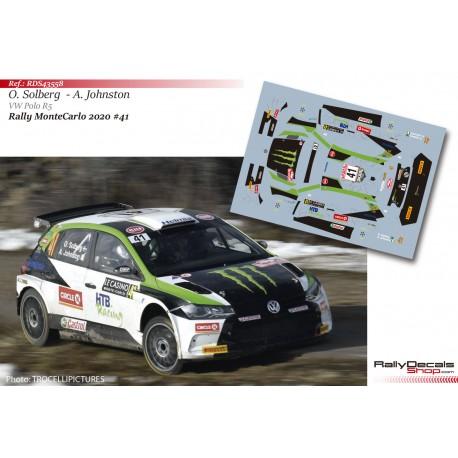 Oliver Solberg - VW Polo R5 - Rally MonteCarlo 2020