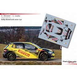 Gregoire Munster - Skoda Fabia R5 - Rally MonteCarlo 2020