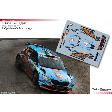 Alessandro Gino - Skoda Fabia R5 Evo - Rally MonteCarlo 2020