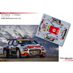 Mads Ostberg - Citroen C3 R5 - Rally MonteCarlo 2020