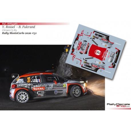 Yohan Rossel - Citroen C3 R5 - Rally MonteCarlo 2020