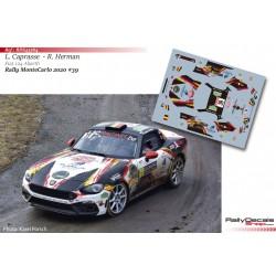 Luc Caprasse - Fiat 124 Abarth - Rally MonteCarlo 2020