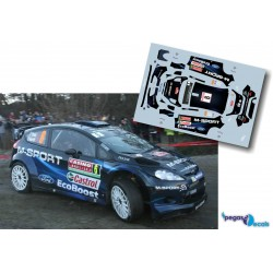 Elfyn Evans - Ford Fiesta WRC - Rally Montecarlo 2014