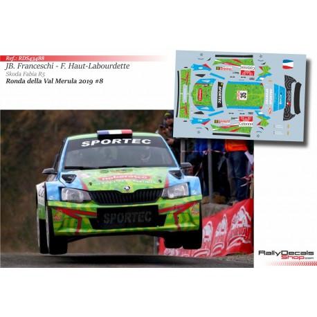 Jean-Baptiste Franceschi - Skoda Fabia R5 - Rally Ronde della Val Merula 2019