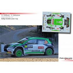 Oliver Solberg - Skoda Fabia Evo - Rally Sweden 2020