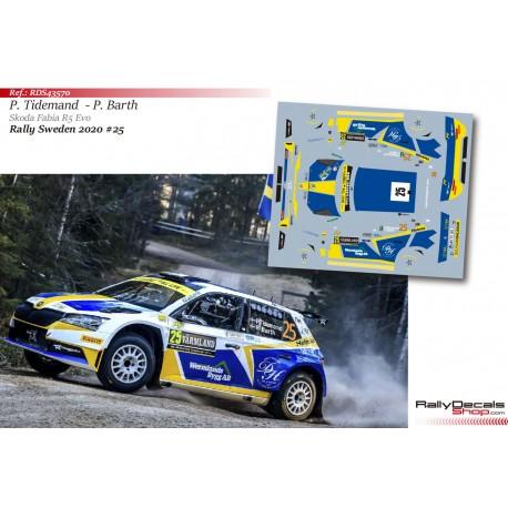Pontus Tidemand - Skoda Fabia R5 Evo - Rally Sweden 2020