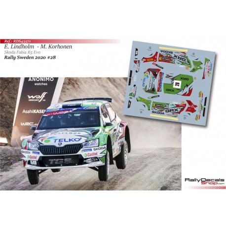 Emil Lindholm - Skoda Fabia R5 Evo - Rally Sweden 2020
