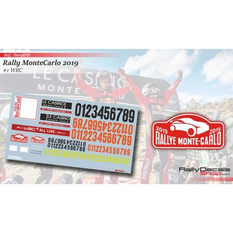 Montecarlo 2019 Numbers