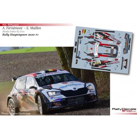 Adrian Fernémont - Skoda Fabia R5 Evo - Rally Haspengouw 2020