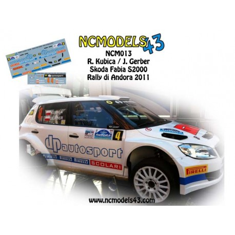 Robert Kubica - Skoda Fabia S2000 - Rally Ronde di Andora 2011
