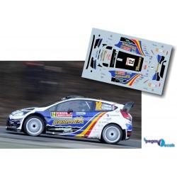 François Delecour - Ford Fiesta RS WRC - Rally Montecarlo 2014
