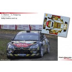 Yves Matton - Citroen C4 WRC - Rally Condroz 2016