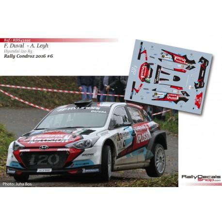 François Duval - Hyundai i20 R5 - Rally Condroz 2016