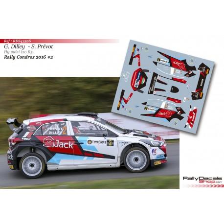 Guillaume Dilley - Hyundai i20 R5 - Rally Condroz 2016